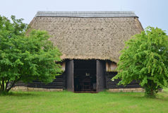 KOURIM - MAY 24: Traditional barn from the 17th century Stock Photo