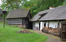 KOURIM - MAY 24: Traditional village house from the 17th century. May 24, 2014 Royalty Free Stock Images