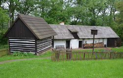 KOURIM - MAY 24: Traditional village house from the 17th century. May 24, 2014 Royalty Free Stock Image