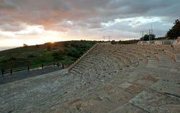 Kourion古城的圆形剧场在利马索尔, Cyp 免版税图库摄影