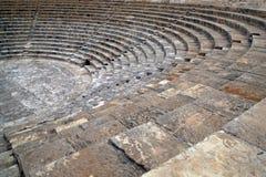 Kourion圆形露天剧场 免版税图库摄影