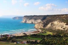 Kourion海岸,塞浦路斯 免版税库存图片