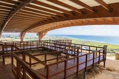 Kourion考古学站点在塞浦路斯 免版税库存照片