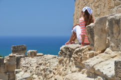 Kourion,塞浦路斯 免版税图库摄影