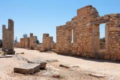 KOURION, CYPRUS/GREECE - 7月24日:阿波罗教堂在Kourion附近的 库存图片