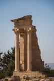 Kourion (ΚΠ¿ Ï  Ï  Î ¹ Î ¿ Î ½),塞浦路斯 圣所阿波罗Hylates 2 免版税库存图片