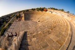 Kourion amfiteatr Limassol okręg, Cypr zdjęcie stock