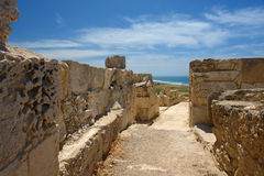kourion archeological site in cyprus Royalty Free Stock Photography