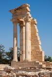 KOURION, CYPRUS/GREECE - 24 DE JULIO: Templo de Apolo en Kourion i imagen de archivo libre de regalías