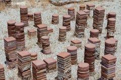 KOURION, CYPRUS/GREECE - 24 JUILLET : Restes à la ville antique o Image libre de droits