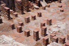 KOURION CYPRUS/GREECE - JULI 24: Rest på nollan för forntida stad Royaltyfria Bilder