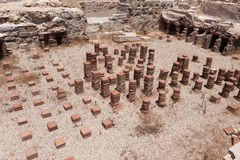 KOURION, CYPRUS/GREECE - JULY 24 : Remains at the ancient city o. F Kourian near Episkopi Cyprus in Cyprus On July 24, 2009 Stock Photo