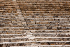 KOURION, CYPRUS/GREECE - JULY 24 : Restored ampitheatre  in the. Ruins at Kourion in Cyprus On July 24, 2009 Royalty Free Stock Photography