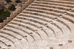 KOURION, CYPRUS/GREECE - JULY 24 : Restored ampitheatre  in the. Ruins at Kourion in Cyprus On July 24, 2009 Royalty Free Stock Photo