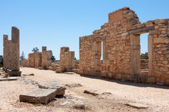 KOURION, CYPRUS/GREECE - JULY 24 : Temple of Apollo near Kourion in Cyprus On July 24, 2009 stock image