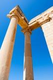 KOURION, CYPRUS/GREECE - LIPIEC 24: Świątynia Apollo blisko Kourion fotografia royalty free