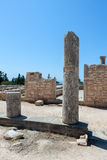 KOURION, CYPRUS/GREECE - LIPIEC 24: Świątynia Apollo blisko Kourion obraz stock