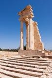 KOURION, CYPRUS/GREECE - LIPIEC 24: Świątynia Apollo blisko Kourion obrazy royalty free