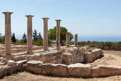 KOURION, CYPRUS/GREECE - 24 LUGLIO: Tempio di Apollo vicino a Kourion Immagini Stock Libere da Diritti