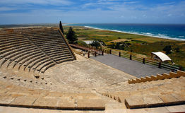 Kourion in cyprus island royalty free stock photography