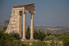 Kourion (½ för ¿ Î för ¹ Î för  Î för  Ï för ΚΠ¿ Ï), Cypern apollo hylatesfristad Fotografering för Bildbyråer