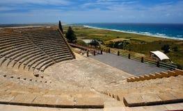 Kourion in het eiland van Cyprus Royalty-vrije Stock Fotografie