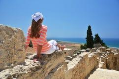 Kourion i Cypern Arkivfoton