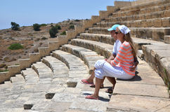 Kourion's amphiteater. Cyprus Stock Images