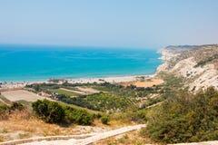 Kourion. View from Kourion over Mediterranea Sea Stock Photos