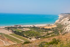 Kourion. View from Kourion over Mediterranea Sea Stock Image