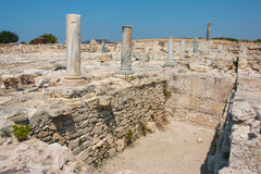 Kourion. Was an important ancient city-state on the southwestern coast of Cyprus. The acropolis of , located 1.3 km southwest of Episkopi and 13 km west of Stock Photography