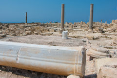 Kourion. Was an important ancient city-state on the southwestern coast of Cyprus. The acropolis of , located 1.3 km southwest of Episkopi and 13 km west of Stock Image
