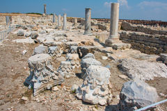 Kourion. Was an important ancient city-state on the southwestern coast of Cyprus. The acropolis of , located 1.3 km southwest of Episkopi and 13 km west of Royalty Free Stock Photo