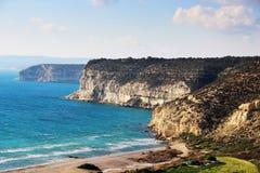 Kourion wybrzeże, Cypr Obrazy Stock
