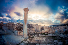 Kourionruïnes Limassol district, Cyprus Royalty-vrije Stock Afbeelding