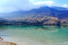 Kournas湖,克利特海岛 免版税库存图片
