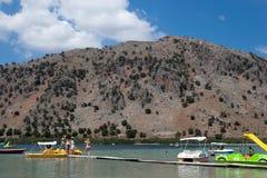 Kournas - il più grande lago d'acqua dolce Fotografia Stock Libera da Diritti