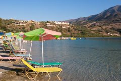 Kournas lake. Crete Stock Photography