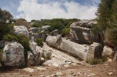 Kourosstandbeeld van Naxos royalty-vrije stock afbeeldingen