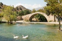 Kourtaliotiko Bridge Royalty Free Stock Image