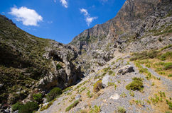 Kourtaliotiko gorge on Crete island, Greece Royalty Free Stock Photo