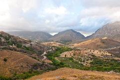 The Kourtaliotiko Gorge, Greece. Stock Photography