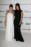 Kourtney Kardashian, Kim Kardashian, Elton John Stock Image