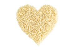 Kouskous in een vorm van een hart Royalty-vrije Stock Foto