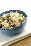 Kouskous met rozijnen, noten en koriander Royalty-vrije Stock Foto's