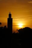 Koutobia meczet w zmierzchu, Marrakech Fotografia Stock
