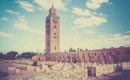 Koutoubia在马拉喀什,摩洛哥 免版税库存图片