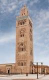 Koutoubia尖塔在马拉喀什 免版税库存照片