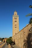 Koutoubia清真寺,马拉喀什市,摩洛哥的多数著名标志。 库存照片