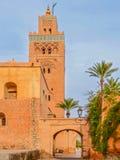Koutoubia清真寺在马拉喀什摩洛哥 免版税库存照片